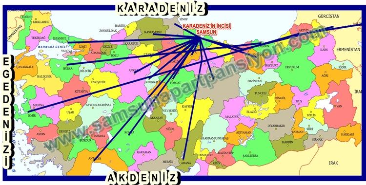 Samsun Apart Türkiye Yol Haritası Konaklama